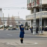 North Korea policewoman