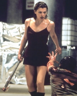 Pantyhose add beauty to horror/action movie genre