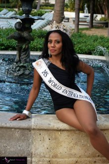 Juanita was crowned Ms. World International (known now as MWI International) eariler this year.