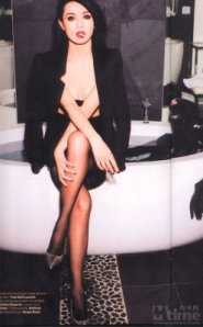 Chinese actress Maggie Cheung always could be counted on to wear sheer pantyhose in her many movies and ads.
