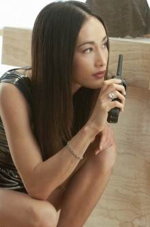 "Maggie Q, a professional model and actress of Vietnamese heritage, often wears sheer pantyhose on her hit TV show, ""Nikita."""