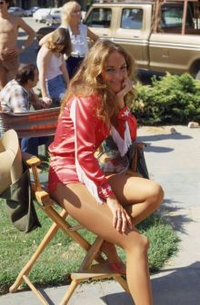 Perhaps no one exemplifies the Golden Age of Pantyhose during the 1970s as much (or as beautifully) as Catherine Bach, portraying Daisy Duke on the Dukes of Hazard TV series.