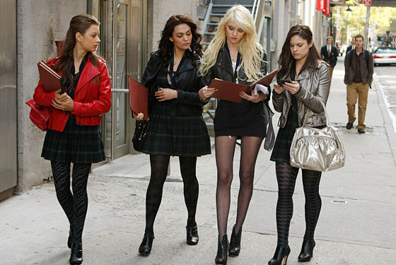 Cast members of the CW's teen drama TV series, Gossip Girl, were routinely dressed in tights and sheer pantyhose