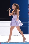 Young artist Ariana Grande practically lives in pantyhose.