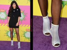 Kylie Jenner arrives on the red carpet for the Nickelodeon-26th-Annual Kids Choice Awards earlier this year.