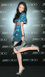 Taiwanese model/actress Shu Qi attends opening of a Jimmy Choo accessories store last month in Hong Kong.