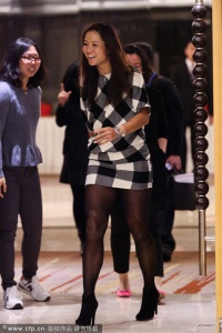 Li Na, arrives for a dinner ceremony at the Shenzhen Open held from Dec. 29 to Jan. 4, 2014 in China.