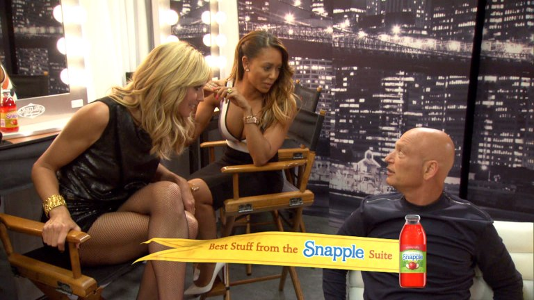 Judges Heidi Klum, left, and Mel B share a laugh with Howie Mandel backstage during Season 9 of America's Got Talent.  Look at Heidi smoldering in those hot pantyhose.