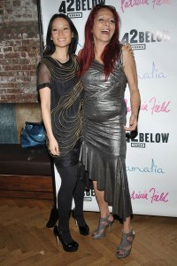Lucy Liu, left, celebrates costume designer Patricia Field's birthday Feb. 16, 2009 in New York City.