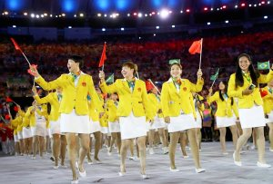 Athletes of China participate in the 2016 Olympics opening ceremony earlier this month in Rio de Janeiro, Brazil.