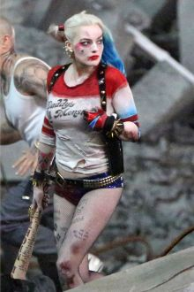 Actress Margot Robbie plays Harley Quinn in Suicide Squad.