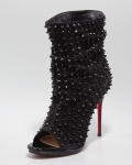 Christian Louboutin-Guerilla Studded-open-toe booties.
